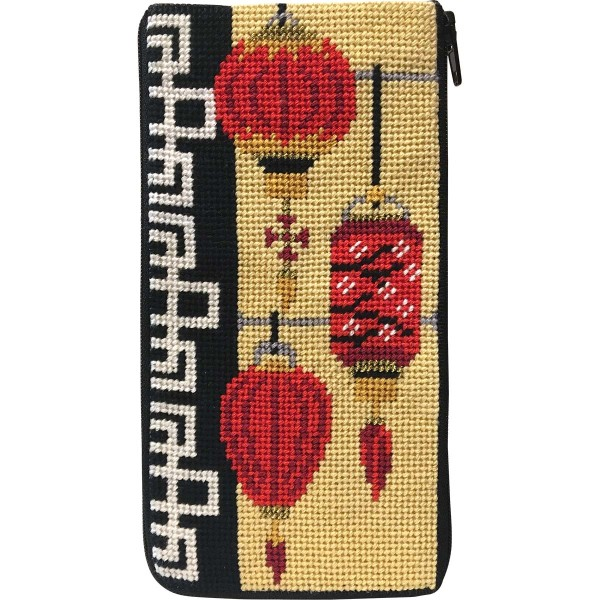 click here to view larger image of Chinese Lanterns Eyeglass Case (needlepoint kits)
