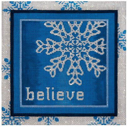click here to view larger image of Believe Snowflake (hand painted canvases)