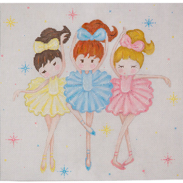 click here to view larger image of Three Ballerinas (hand painted canvases)