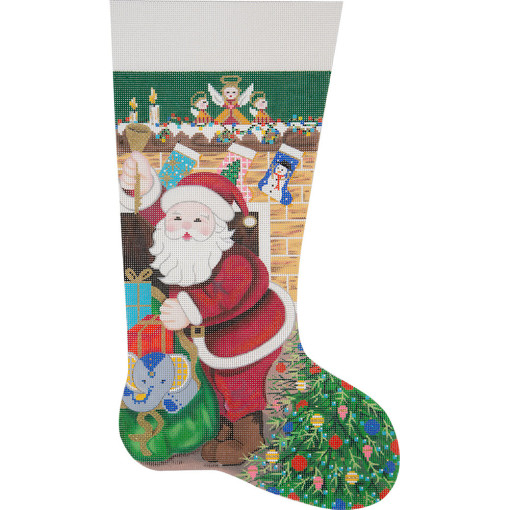 click here to view larger image of Twas The Night Before Christmas Stocking (hand painted canvases)