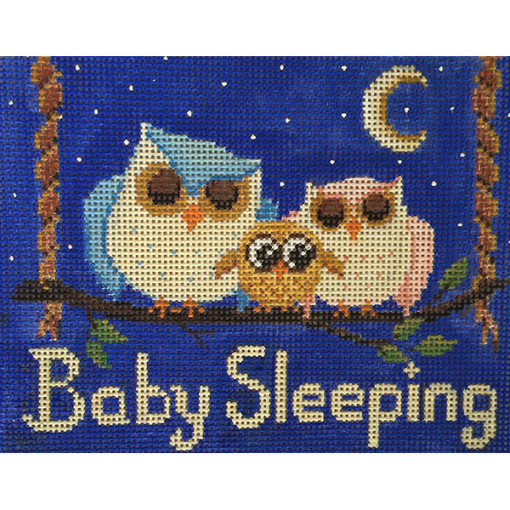 click here to view larger image of Baby Sleeping Owls (hand painted canvases)
