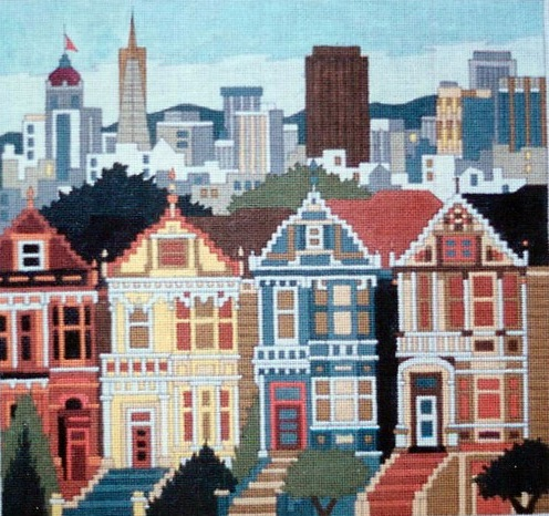 click here to view larger image of Alamo Square Houses (hand painted canvases)