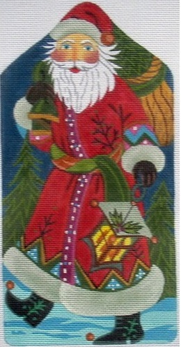 click here to view larger image of Santa Standup w/Lantern (hand painted canvases)