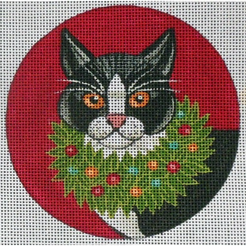 click here to view larger image of Cat Ornament (hand painted canvases)