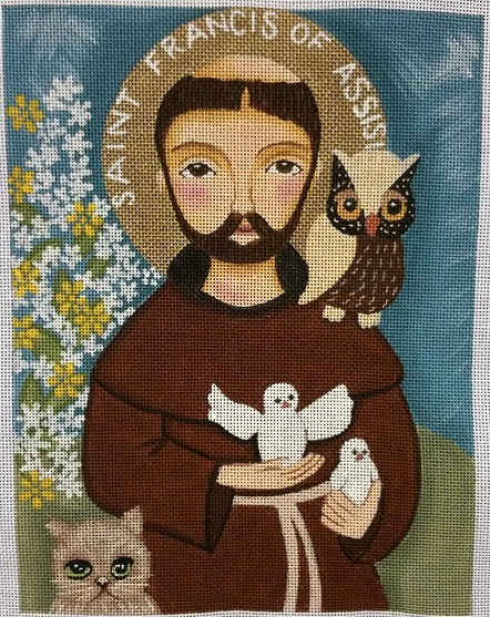 click here to view larger image of Saint Francis Of Assisi (hand painted canvases)