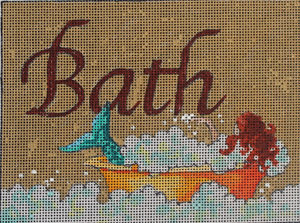 click here to view larger image of Bath (hand painted canvases)