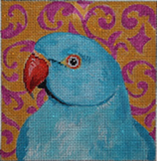 click here to view larger image of Blue Parrot (hand painted canvases)