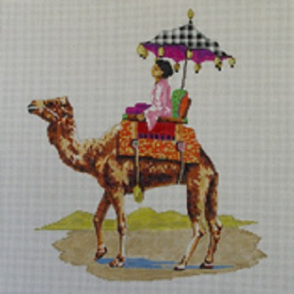 click here to view larger image of Camel with Woman (hand painted canvases)