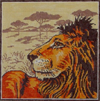 click here to view larger image of Graphic Lion (hand painted canvases)