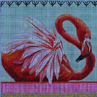 click here to view larger image of Flamingo (hand painted canvases)