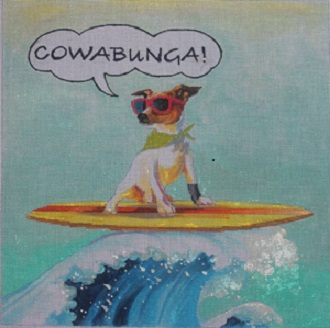 click here to view larger image of Cowabunga (hand painted canvases)