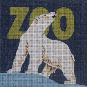 click here to view larger image of Zoo Polar Bear (hand painted canvases)