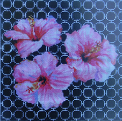 click here to view larger image of Pink Hawaiian Floral (hand painted canvases)