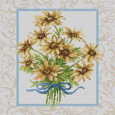 click here to view larger image of Daisy Bouquet (hand painted canvases)