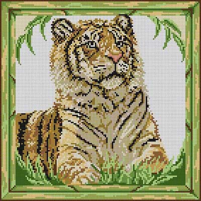 click here to view larger image of Tiger (hand painted canvases)