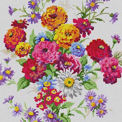 click here to view larger image of Floral Bouquet (hand painted canvases)