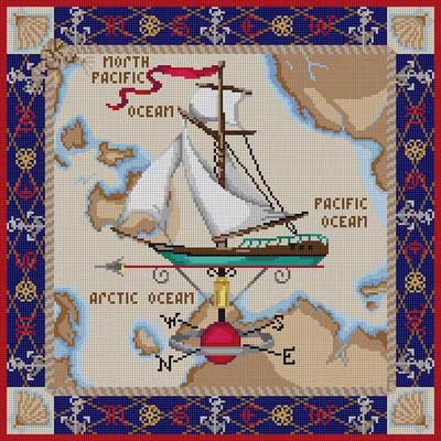 click here to view larger image of Maritime Travel (hand painted canvases)