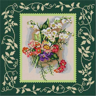 click here to view larger image of Victorian Bouquet (hand painted canvases)