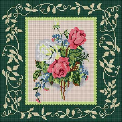 click here to view larger image of Victorian Roses (hand painted canvases)