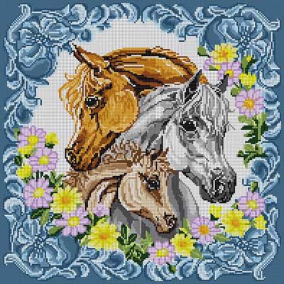 click here to view larger image of Three Horses (hand painted canvases)