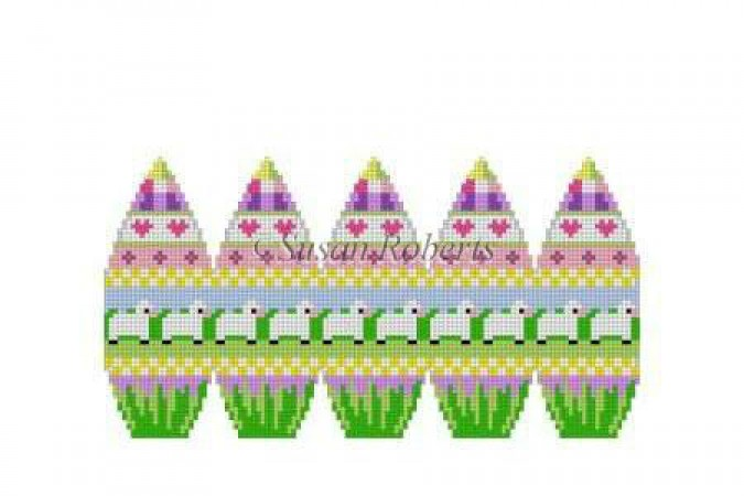 click here to view larger image of Lamb Row - 3D Egg (hand painted canvases)