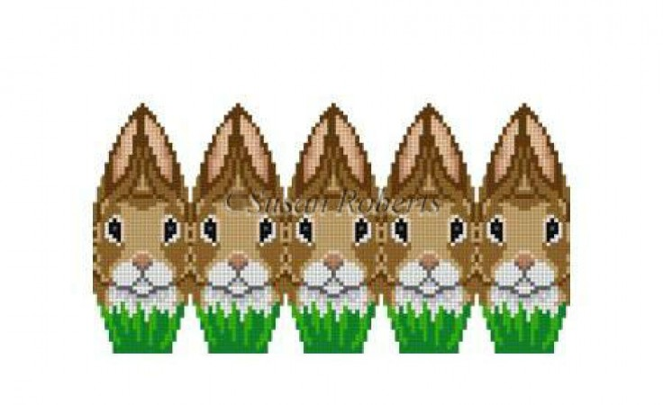 click here to view larger image of Rabbit Huddle - 3D Egg (hand painted canvases)