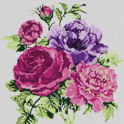 click here to view larger image of Peony Bouquet (hand painted canvases)