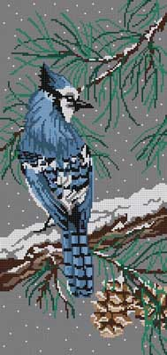 click here to view larger image of Blue Jay Rectangle (hand painted canvases)