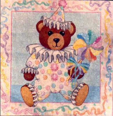 click here to view larger image of Party Bear (hand painted canvases)