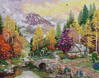 click here to view larger image of Valley Of Peace (hand painted canvases)