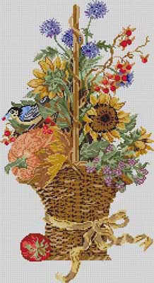 click here to view larger image of Autumn Basket (hand painted canvases)