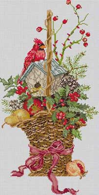 click here to view larger image of Winter Basket (hand painted canvases)