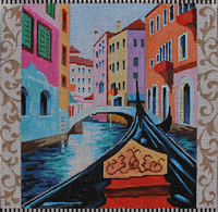 click here to view larger image of Gondola/Venice (hand painted canvases)