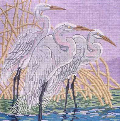 click here to view larger image of Great Egrets (hand painted canvases)