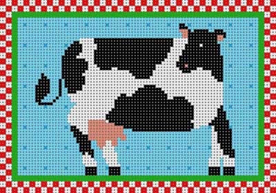 click here to view larger image of Country Cow (hand painted canvases)