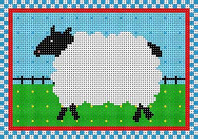 click here to view larger image of Country Sheep (hand painted canvases)