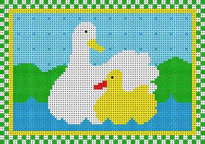 click here to view larger image of Country Duck (hand painted canvases)