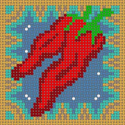 click here to view larger image of Chili Pepper (hand painted canvases)