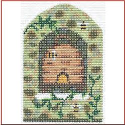 click here to view larger image of Bee Skep In Field Stone Wall Stitch Guide (books)