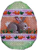 click here to view larger image of Bunny Carrot Stripes Mini Egg (hand painted canvases)