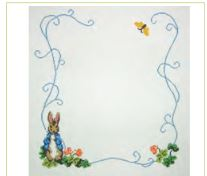 click here to view larger image of Beatrix Potter Chair Seat (hand painted canvases)