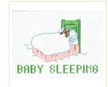 click here to view larger image of Baby Sleeping Sign (hand painted canvases)