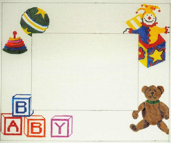 click here to view larger image of Baby Frame (hand painted canvases)