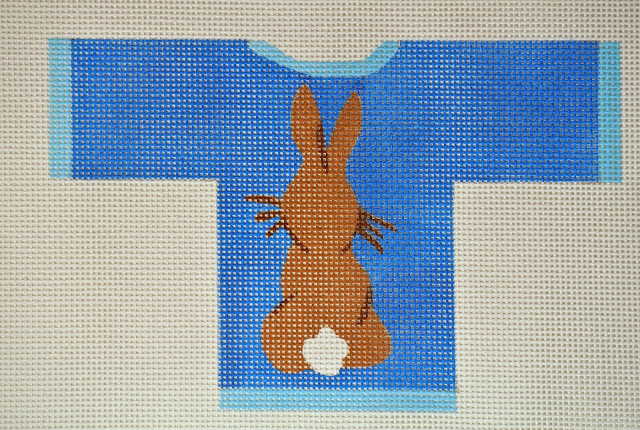 click here to view larger image of Rabbit Sweater (hand painted canvases)