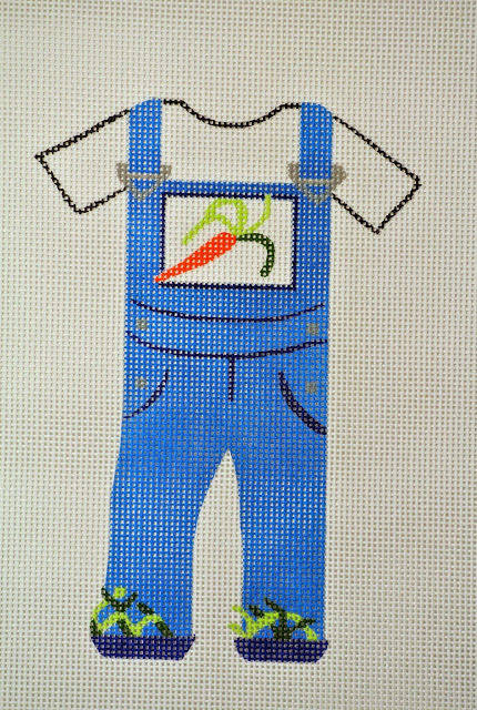 click here to view larger image of Carrot Overalls (hand painted canvases)