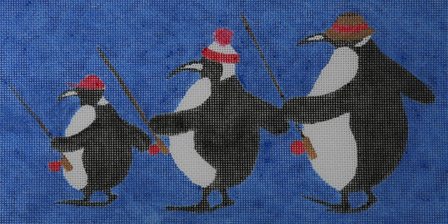 click here to view larger image of Fishing Penguins (hand painted canvases)
