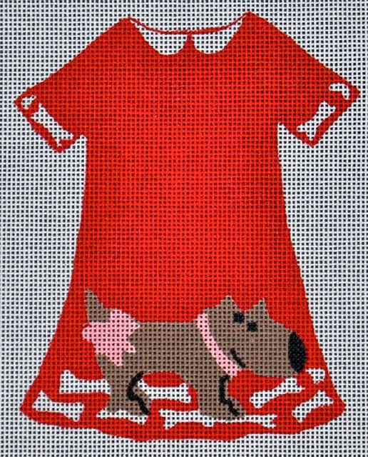 click here to view larger image of Doggy Dress (hand painted canvases)