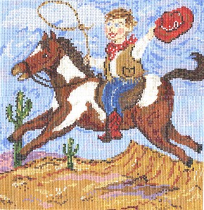 click here to view larger image of Ride Em Cowboy (hand painted canvases)