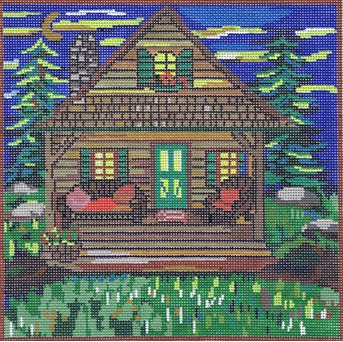click here to view larger image of Cabin (hand painted canvases)