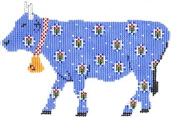 click here to view larger image of Blue Cow (hand painted canvases)